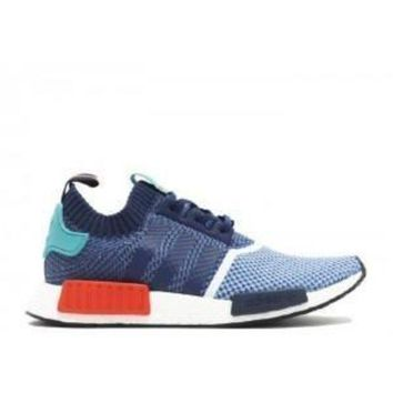 PEAPGE2 Beauty Ticks Adidas Nmd R1 Pk Pakers Blue Turquoise Red Sport Running Shoes