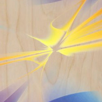 Abstract Art Computer Animation Design - Plywood Wood Print Poster Wall Art