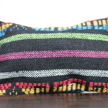 Aztec Make Up Bag, Serape Coin Purse, Small Handbag, Boho Clutch Bag, Colorful, Tribal, Fabric Handbag, Gift For Her, Fabric Bag with Zipper