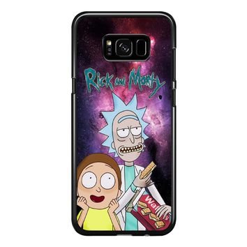 Rick And Morty On Nebula Galaxy Samsung Galaxy S8 Plus Case