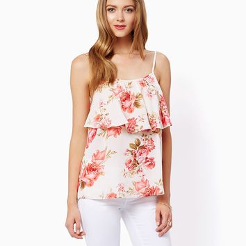 Summer Fresh Floral Tank | Shirts and Tops - Fashion Apparel | charming charlie