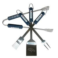 Denver Broncos 4-pc. Grilling Utensil Set (Den Team)