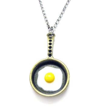 Fried Egg Pendant Necklace