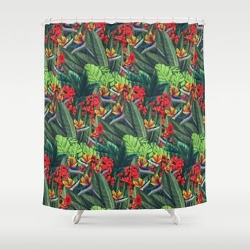 Tropics Paradise Shower Curtain by Ben Geiger