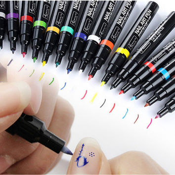 Nail Dot Drawing for UV Gel Polish Manicure Nail Art Pen Painting Design Acrylic Paint Beauty Tools Decorations