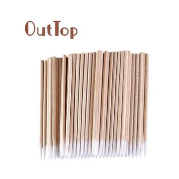 OutTop Best Deal New 100pcs Disposable Makeup Cotton Pointed Swab Medical Cure Health Makeup Stick for Women Beauty Tools