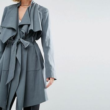 ASOS Waterfall Trench at asos.com