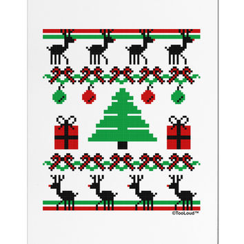 Tree with Gifts Ugly Christmas Sweater Aluminum Magnet