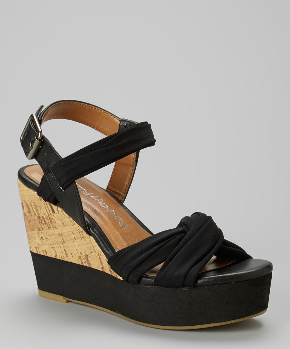 Beautiful Black Martha Wedge  Zulily From Zulily  Women39s Shoes