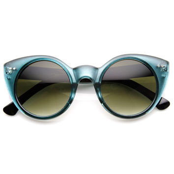 Womens Chic Round Circular Pointed Cat Eye Sunglasses