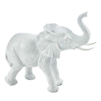 White Elephant Figurine