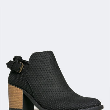 Diamond Cut Ankle Boot