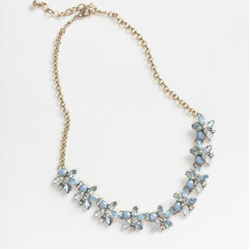 Willow Blue Flower Crystal Necklace