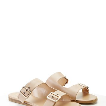 Metallic Buckle Sandals