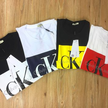 CK Calvin Klein Rectangle Flag Women Men Tee Shirt B-KWKWM Four Color