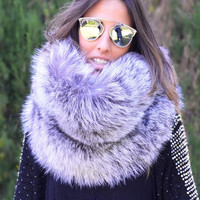 Fur Collar in Silver