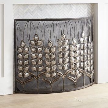 Leaf Fireplace Screen