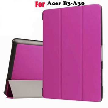 Ultra Slim Flip Cover for Acer Iconia One 10 B3-A30 A3-A40 funda cases Protective Stand Cover shell skin+Gift +Screen Protector