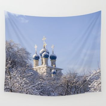Winter Wall Tapestry by Cinema4design