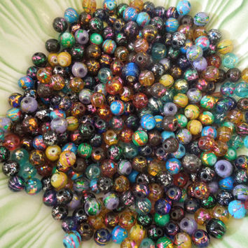 Glass Foil Beads Size 8mm 100 pcs