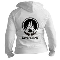 CafePress Divergent - At Your Bravest Fitted Hoodie Jr. Hoodie - L White
