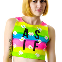 Dimepiece As If Daisy Crop Top Rainbow