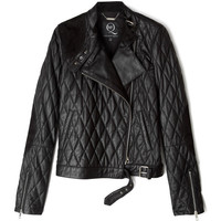 McQ Alexander McQueen Quilted Leather Motorcycle Jacket