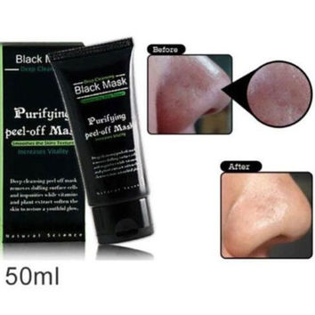 Black Mask Face Care Facial Mask Nose Blackhead Remover Peeling Peel Off Black