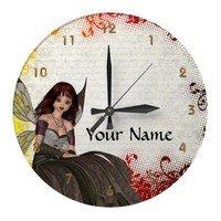 Cute Gothic fairy Wall Clock from Zazzle.com