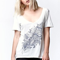 O'Neill Mara V-Neck T-Shirt - Womens Tee - White