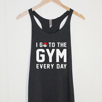Pokemon GO Shirt Tank Top Tee | Gym Workout | Team Squad | Pokemon Tee | Pokemon Gift | Funny Quotes Anti-social Womens Childrens Gift
