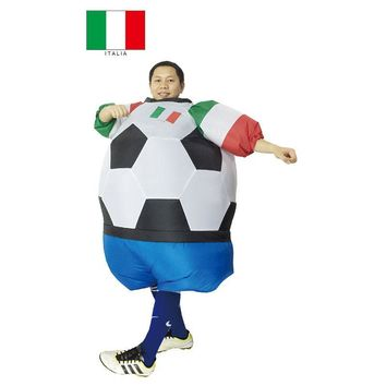 Italy Italia Soccer Inflatable Fat Suit Football Costume Airblown Fancy Dress Outfit Carnival Fantasy Football Halloween Costume