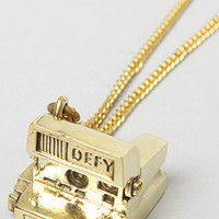 Monserat De Lucca Jewelry The Instant Film Camera Necklace in Brass