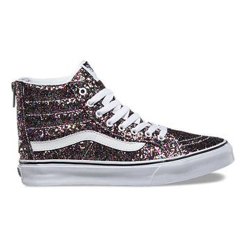 Chunky Glitter SK8-Hi Slim Zip | Shop Shoes At Vans
