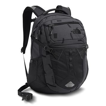 Recon Backpack in Asphalt Grey Piece Print & TNF Black by The North Face