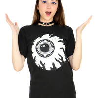 BLACK GLOW IN THE DARK KEEP WATCH TEE