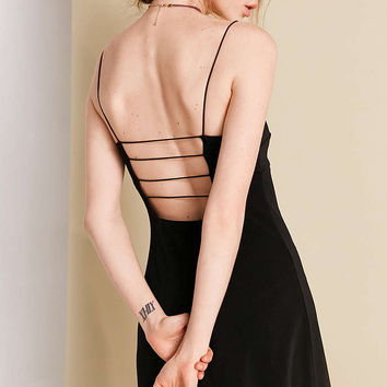 Silence + Noise Empire-Waist Caged Mini Dress - Urban Outfitters
