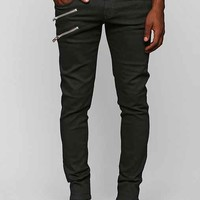 Tripp NYC Double Zip Moto Skinny Jean- Black