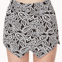 Paisley Pop Asymmetrical Skort