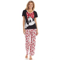 Disney Pajamas: Minnie Mouse Tee & Pants Pajama Set
