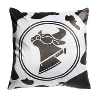 Cow Chop Throw Pillow