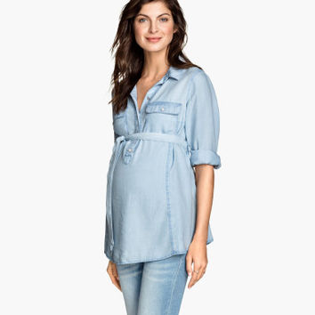H&M MAMA Lyocell Denim Shirt $34.95