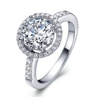 K-DESIGN Silver 925 Promise Sterling Rings For Women