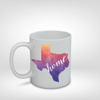 Texas Mug, Texas Gift, Texas, Home, Colorful Mug, State Mug, Gift Idea, Long Distance Gift, Texas Gift, Coffee Drinker, Coffee Mug, Coffee