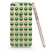 Green Peace Alien Pattern Slim Iphone 6 Case, Clear Iphone 6 Hard Cover Case (For Apple Iphone 6 4.7 Inch Screen)-Emerishop