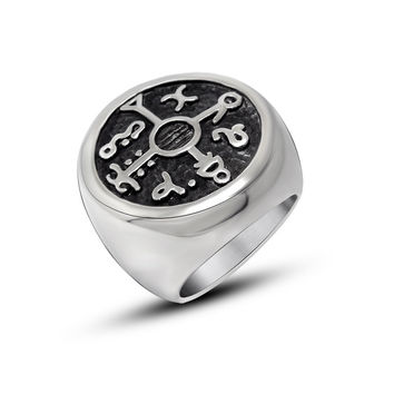 Jewelry Shiny Gift New Arrival Korean Stylish Strong Character Fashion Titanium Club Men Vintage Ring [6526912387]
