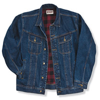 Wrangler Rugged Wear® Flannel Lined Denim Jacket Antique Navy
