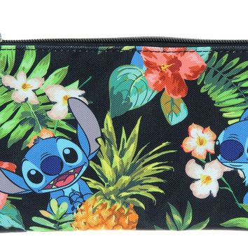 Loungefly Disney Lilo & Stitch Stitch Hawaiian Print School Pencil Case