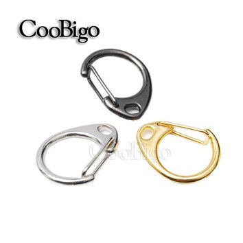 "10pcs 0.9""Length Metal Lobster Clasps Round Snap Hook Key Chain Ring Bag Parts Paracord Straps Knife Lanyard Travel Kits#FLQ048"