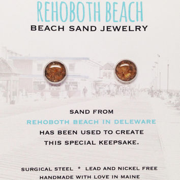 Rehoboth Beach Sand Jewelry, Delaware Sand Jewelry, Beach Sand Jewelry, Sand Jewelry, Nautical, Summer, One of a Kind Gift, Made in Maine